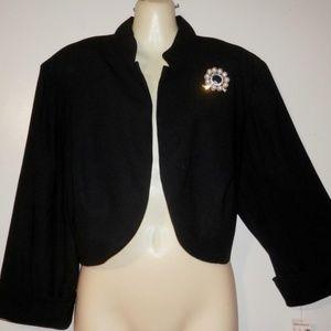 Dressbarn 18 Black Cropped Jacket Mother of Bride